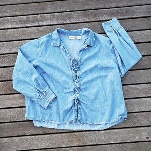 Fashion bug lace up shirt